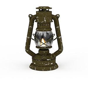 古代煤油灯模型