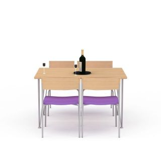 简易<font class='myIsRed'>餐桌</font>3d模型