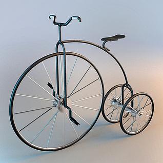 现代创意自行车3d模型