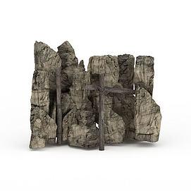 3d石头<font class='myIsRed'>假山</font>模型