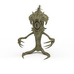 怪物雕塑模型3d模型