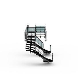 3d商场<font class='myIsRed'>楼梯</font>模型