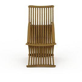 中式藤椅3d模型