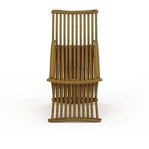 3d中式藤椅模型