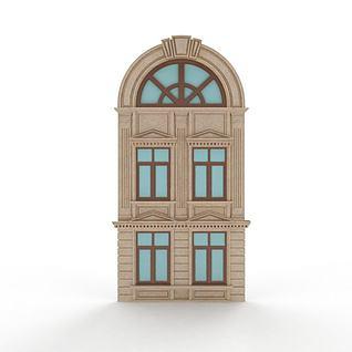 欧式圆弧窗3d模型