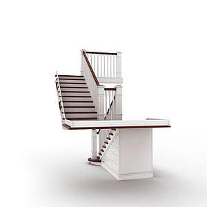 现代室内楼梯模型