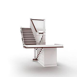 现代室内楼梯3d模型