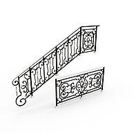 楼梯扶栏3D模型3d模型
