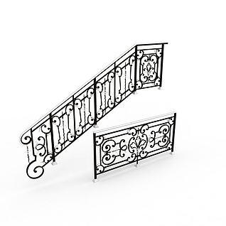 楼梯扶栏3d模型