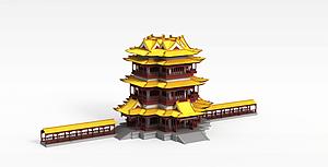中国古代建筑模型3d模型