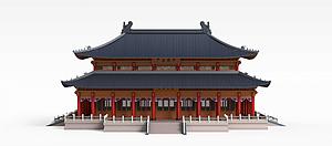 古代室外建筑模型3d模型