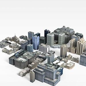 现代建筑模型3d模型
