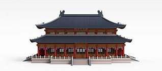 3d古代建筑模型
