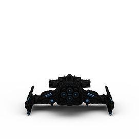游戏战斗机3d模型
