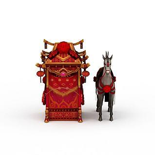 游戏花轿3d模型