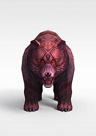 仙侠游戏怪兽3d模型