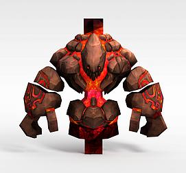 3d游戏怪兽角色模型