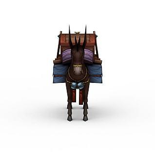 游戏驴车3d模型