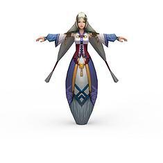 游戏角色女3D模型3d模型