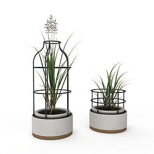 室内陈设花瓶3d模型