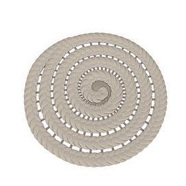 圆形布艺坐垫3d模型
