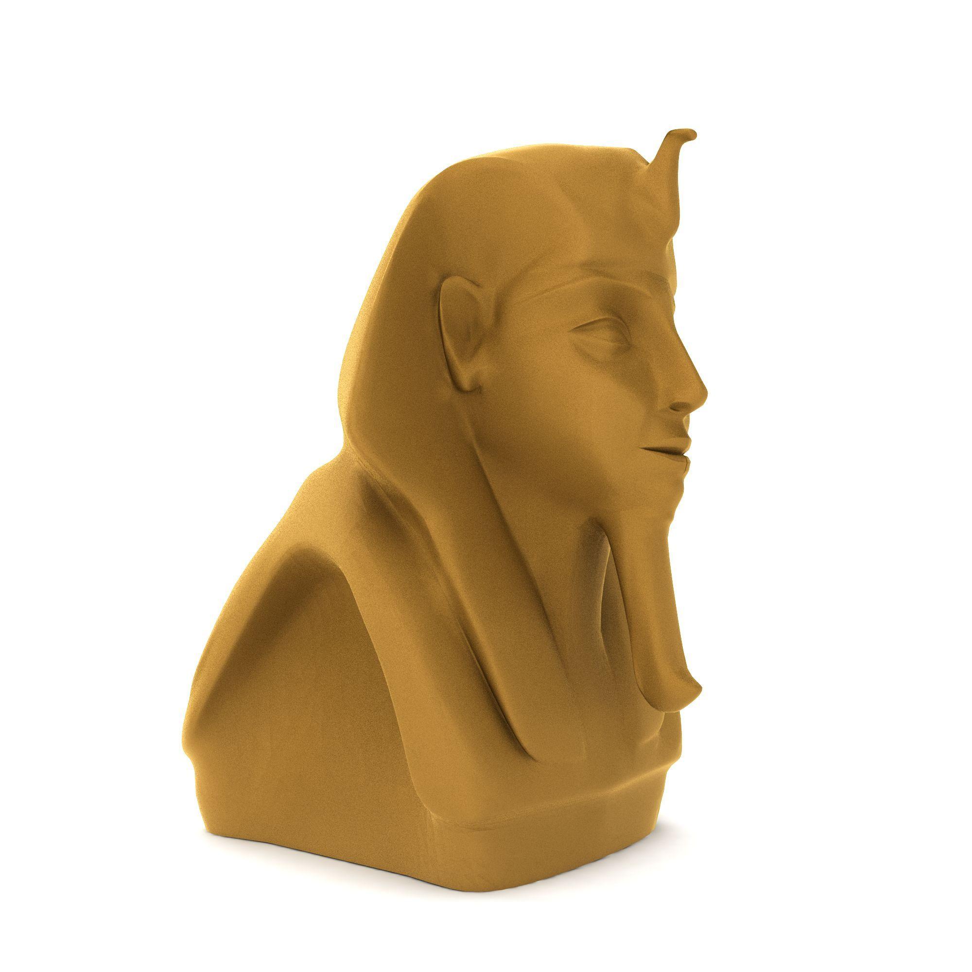 户外建筑 园林景观小品 埃及法老雕像3d模型 埃及法老雕像png高清图