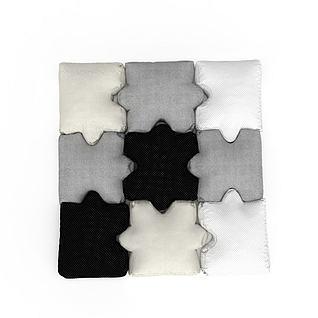 拼接软垫3d模型