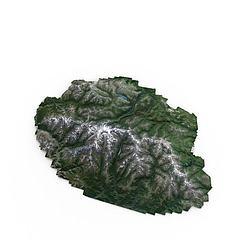 大型山地模型3d模型