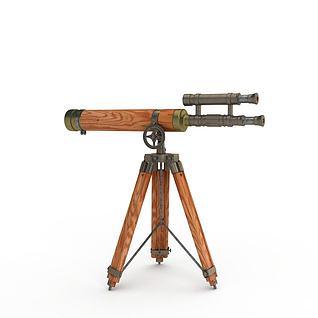 军事望远镜3d模型