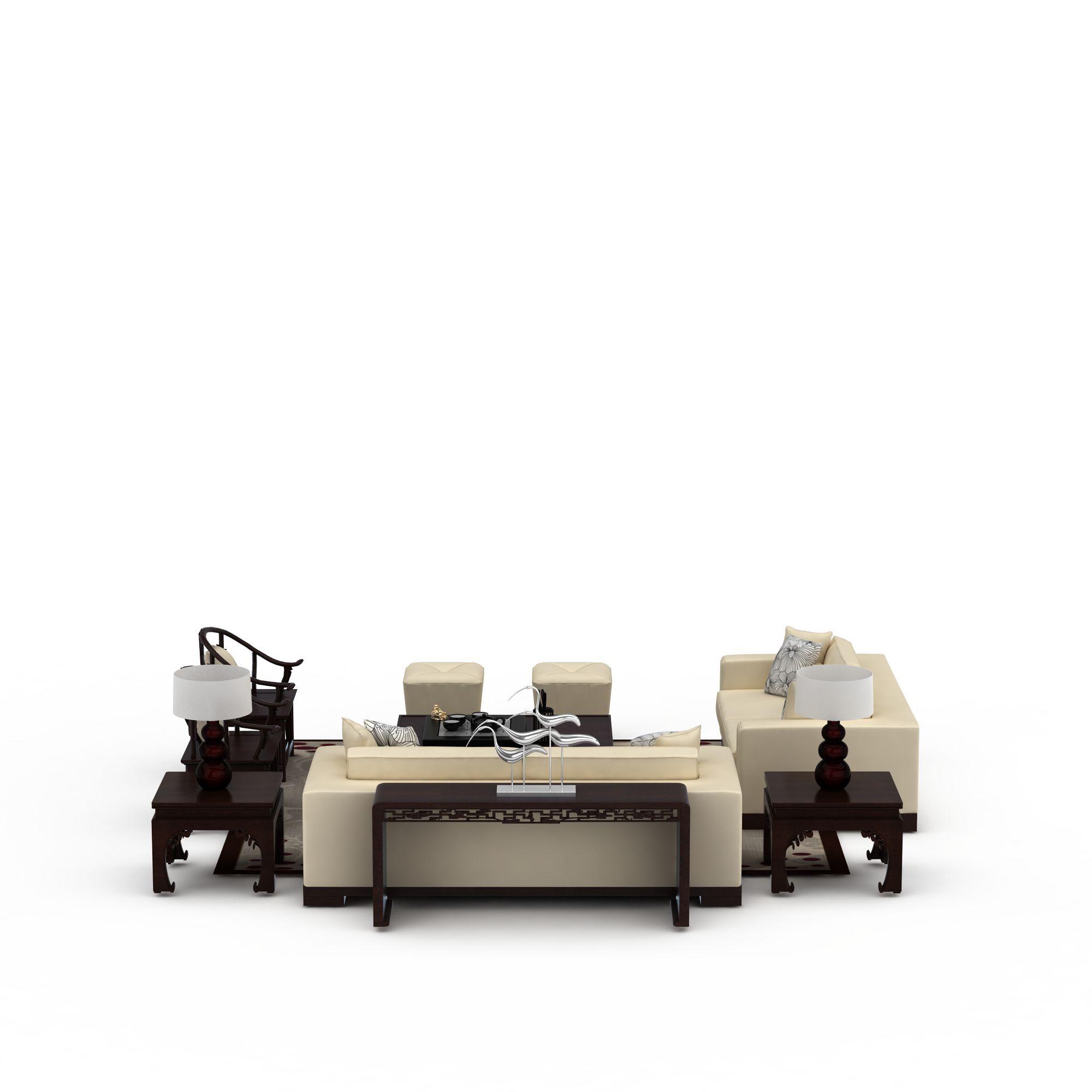 中式风格沙发组合图片_中式风格沙发组合png图片素材