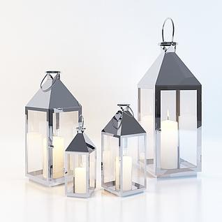 现代装饰烛台3d模型