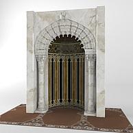 欧式大理石拱门3D模型3d模型