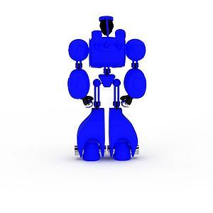 3d兒童玩具藍色<font class='myIsRed'>機器人</font>模型