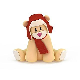 <font class='myIsRed'>儿童玩具</font>熊3d模型
