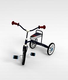 儿童玩具<font class='myIsRed'>自行车</font>3d模型