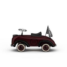 3d儿童卡通车模型