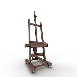 美术画架3d模型
