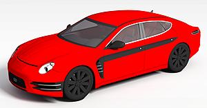 3d红色<font class='myIsRed'>汽车</font>模型