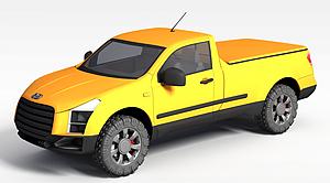 3d工程汽車模型