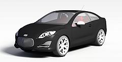 黑色小轿车模型3d模型