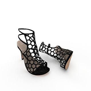 时尚女士高跟鞋3d模型