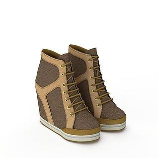内增高女士休闲鞋3d模型