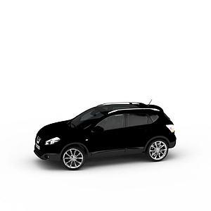 3d尼桑suv汽車模型