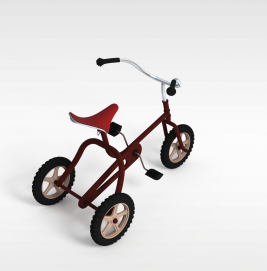三轮<font class='myIsRed'>自行车</font>3d模型