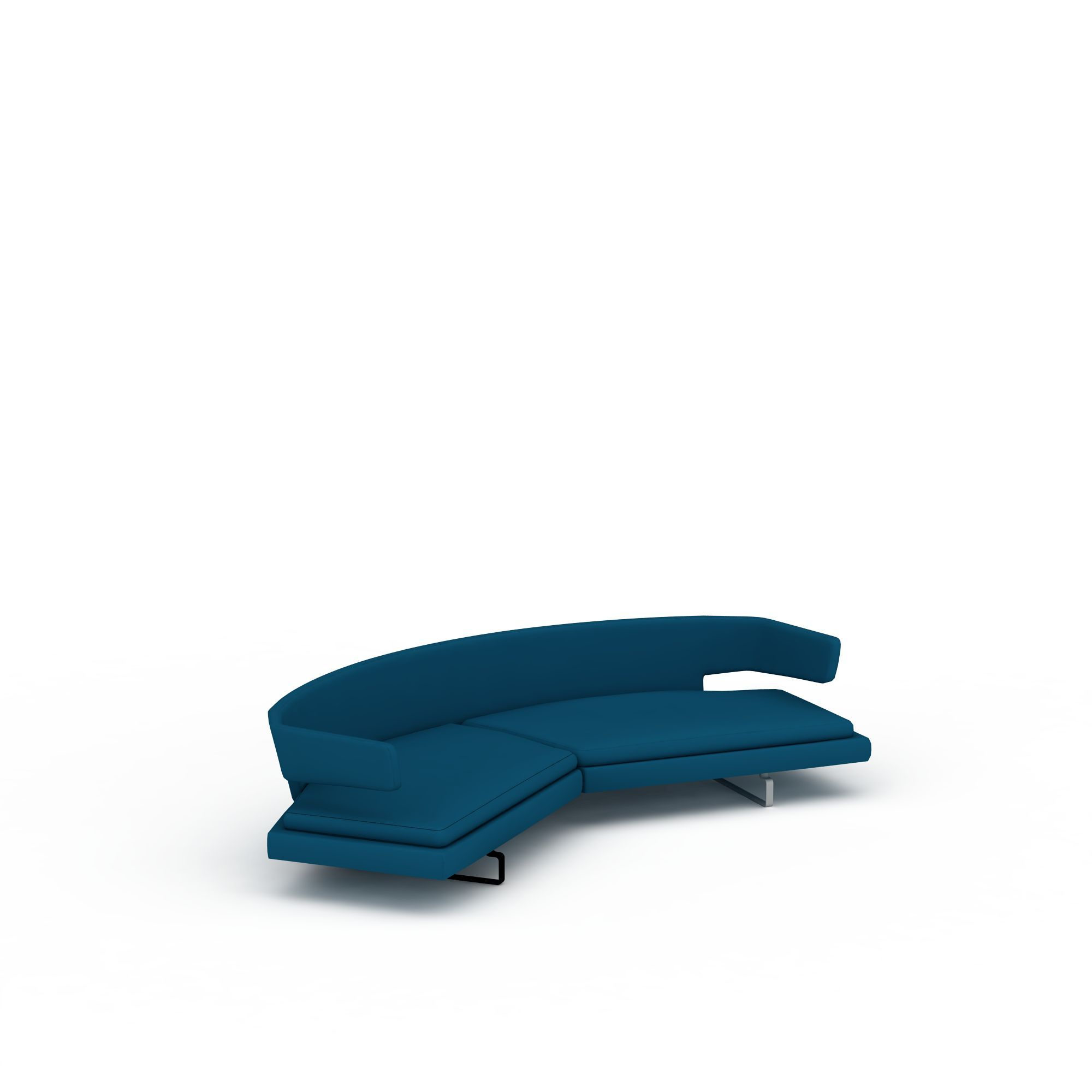 蓝色弧形沙发图片_蓝色弧形沙发png图片素材
