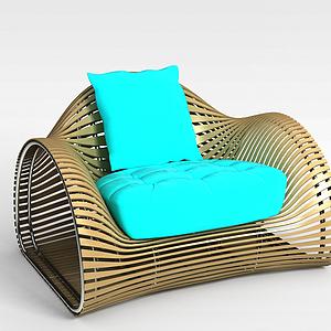 3d编织椅子模型