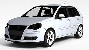 3d普通<font class='myIsRed'>小汽车</font>模型
