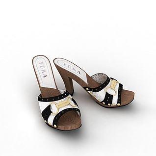女士高跟鞋3d模型