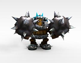 游戏怪兽3d模型