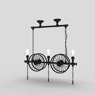 创意工业灯3d模型